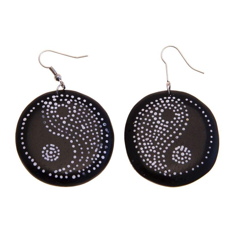 Náušnice Yin&Yang - černé