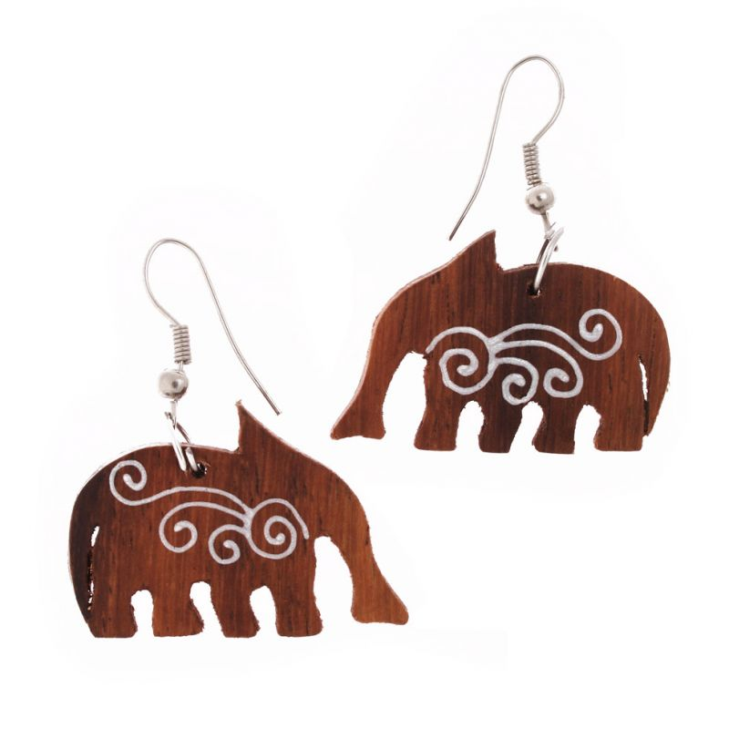 Malované náušnice Sloni