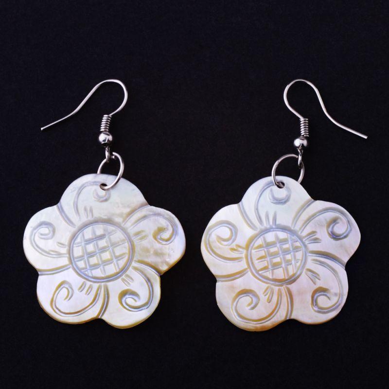 Perleťové náušnice Květy moudrosti