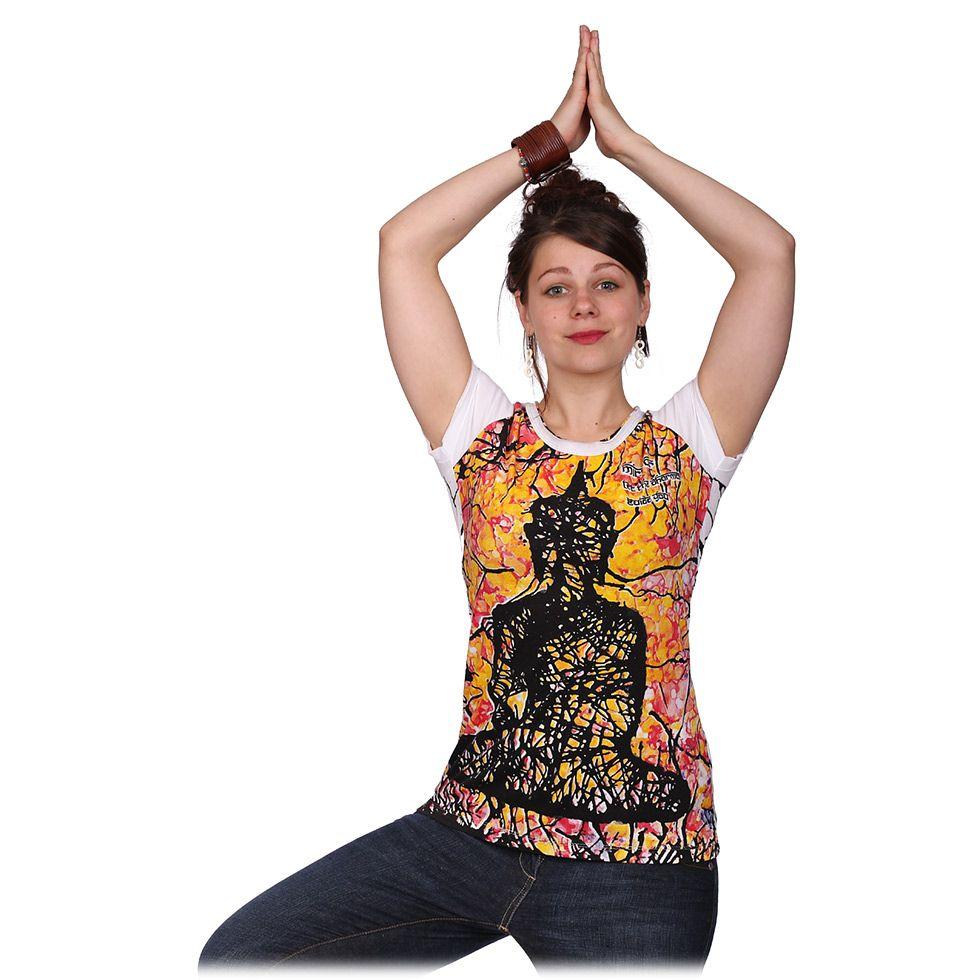 Dámské tričko Mirror s krátkým rukávem Buddha White