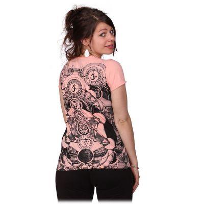 Dámské tričko Mirror s krátkým rukávem Chakras Pink