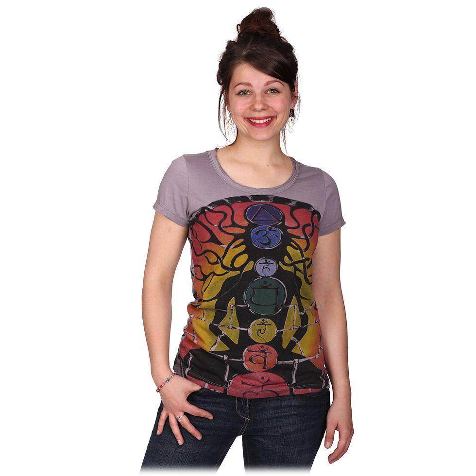 Dámské tričko Mirror s krátkým rukávem Meditation Grey