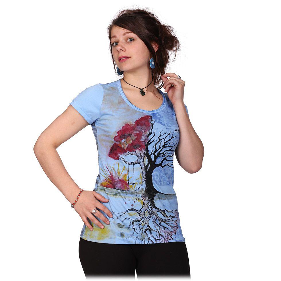 Dámské tričko Mirror s krátkým rukávem Tree by a Lake