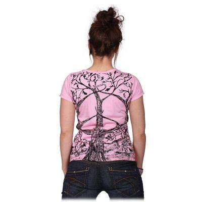 Dámské tričko Mirror s krátkým rukávem Tree of Peace Pink
