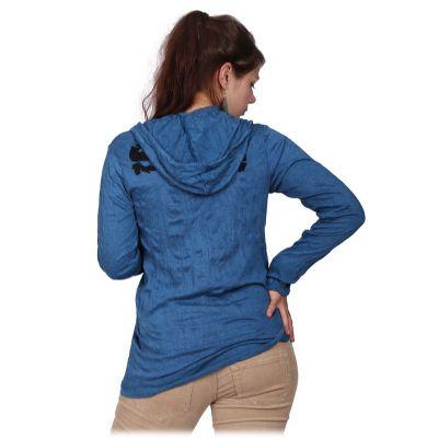 Dámské tričko Sure s kapucí Angry Ganesh Blue