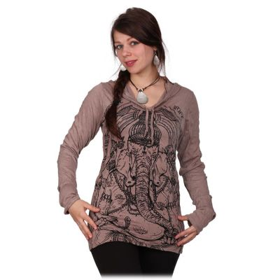 Dámské tričko Sure s kapucí Angry Ganesh Brown