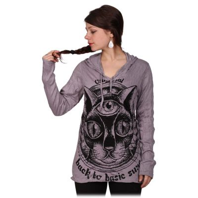Dámské tričko Sure s kapucí Cat's Insight Grey