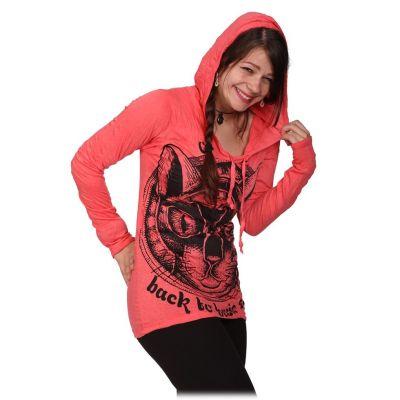 Dámské tričko Sure s kapucí Cat's Insight Pink