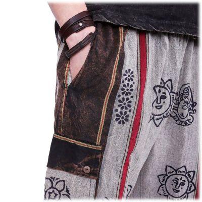 Pánské etno kalhoty Gambar Grey Nepal