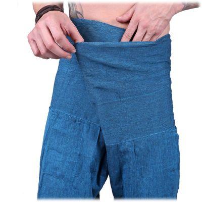 Zavinovací kalhoty Fisherman's Trousers - tyrkysové