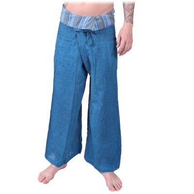 Kalhoty Fisherman's Trousers - tyrkysové