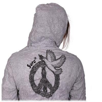 Tričko Sure s kapucí Dove of Peace Grey