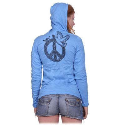 Dámské tričko Sure s kapucí Dove of Peace Blue