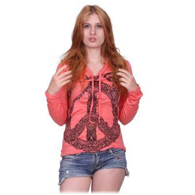 Dámské tričko Sure s kapucí Dove of Peace Pink