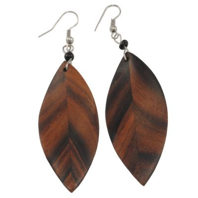 Náušnice Dřevěné listy