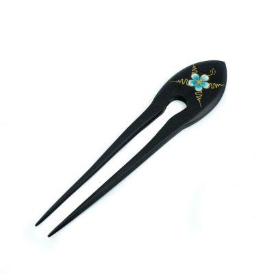 Jehlice do vlasů Tyrkysový květ