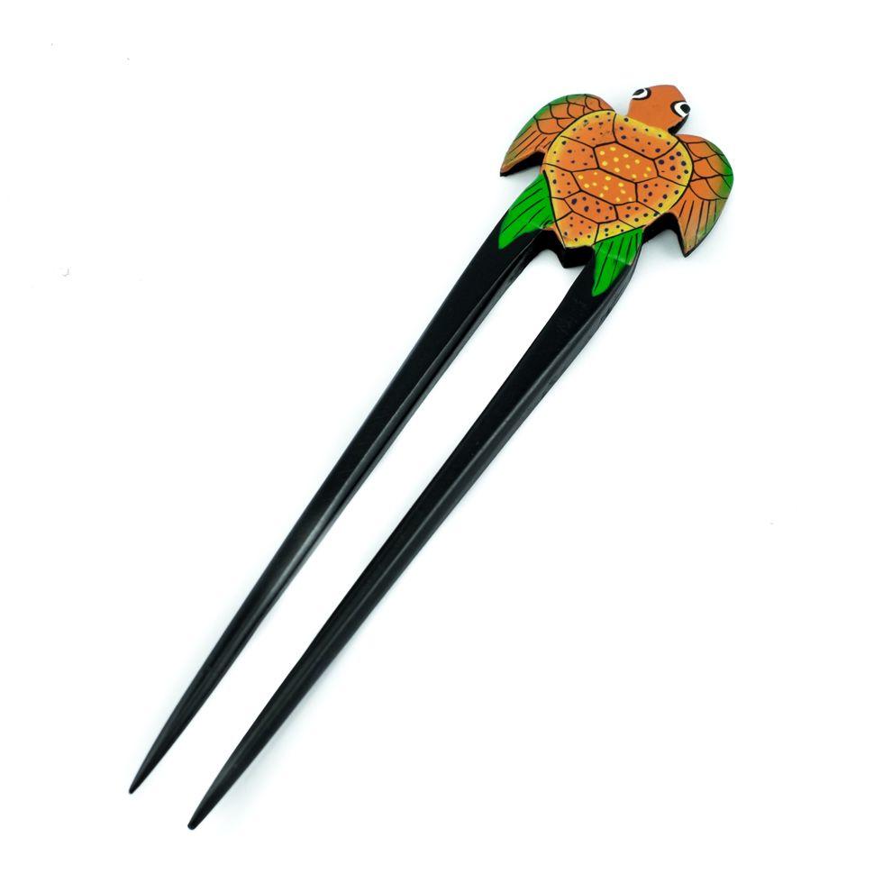 Jehlice do vlasů Oranžová želvička
