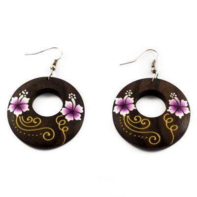 Náušnice Roztomilé květiny - fialové