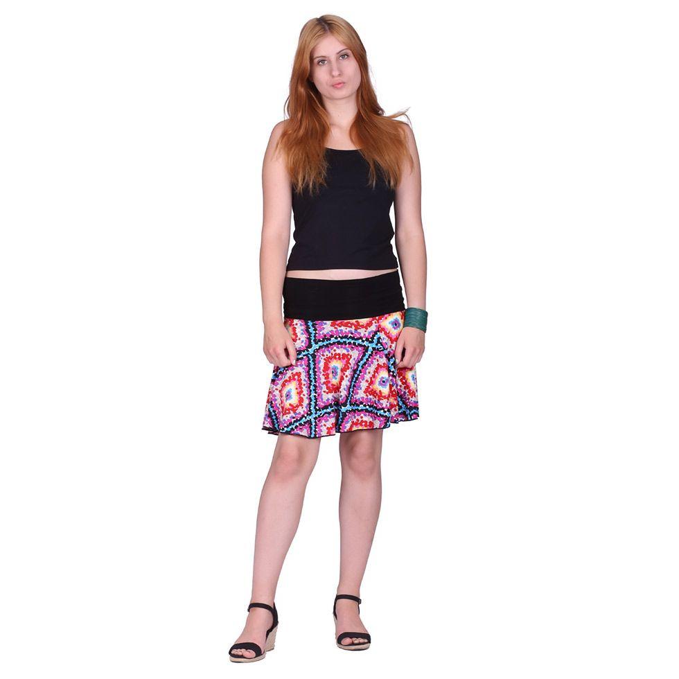 Kolová mini sukně Lutut Gula-gula Thailand