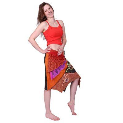 Cípatá vyšívaná sukně Deveshi