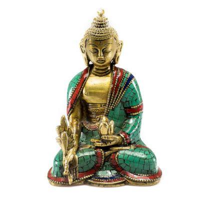 Soška Buddha s lotosovým květem - střední velikost