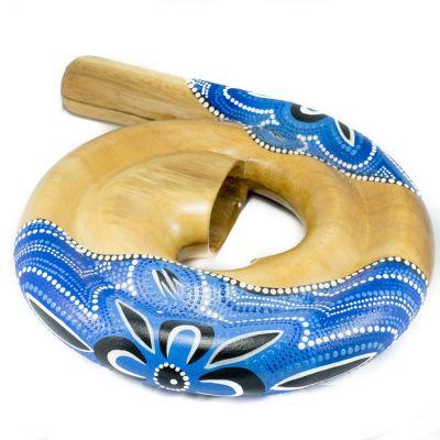 Spirálové didgeridoo modré