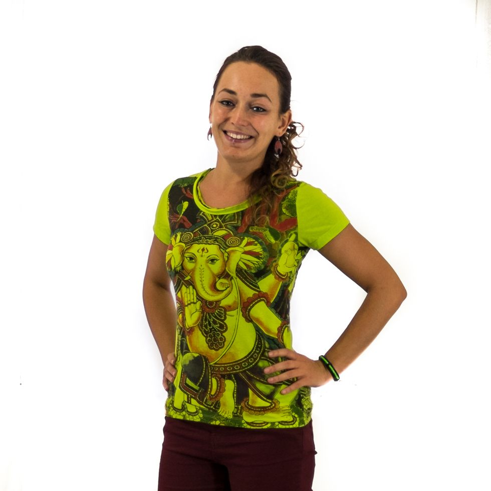 Dámské tričko Mirror s krátkým rukávem Ganapati Green