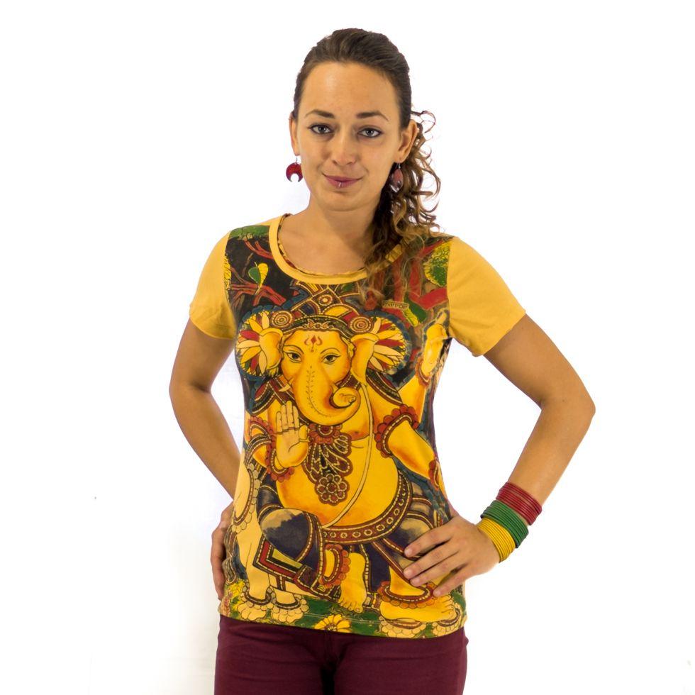 Dámské tričko Mirror s krátkým rukávem Ganapati Yellow