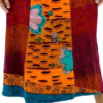 Dlouhá vyšívaná etno sukně Ipsa Anggur