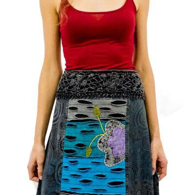 Dlouhá vyšívaná etno sukně Ipsa Awan
