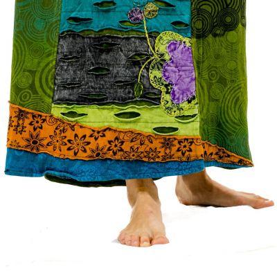Dlouhá vyšívaná etno sukně Ipsa Hijau