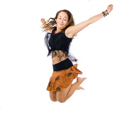 Kolová mini sukně Lutut Tukata Thailand