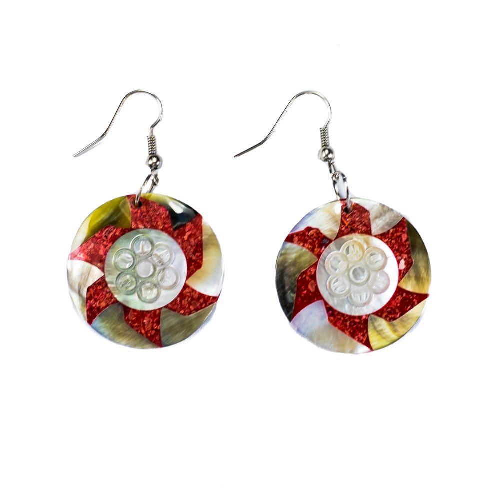 Perleťové náušnice Hvězdný květ Indonesia