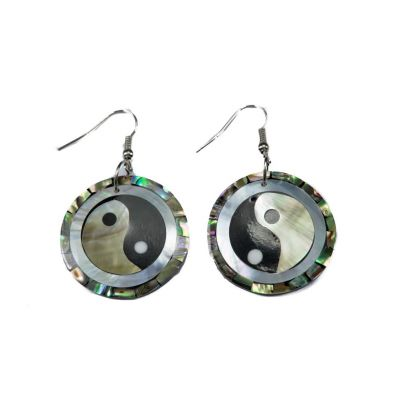 Náušnice Yin&Yang v perleti