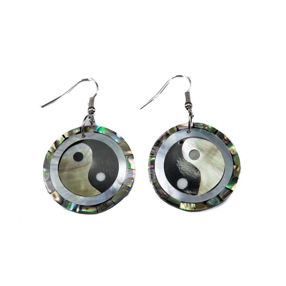 Perleťové náušnice Yin&Yang v perleti Indonesia