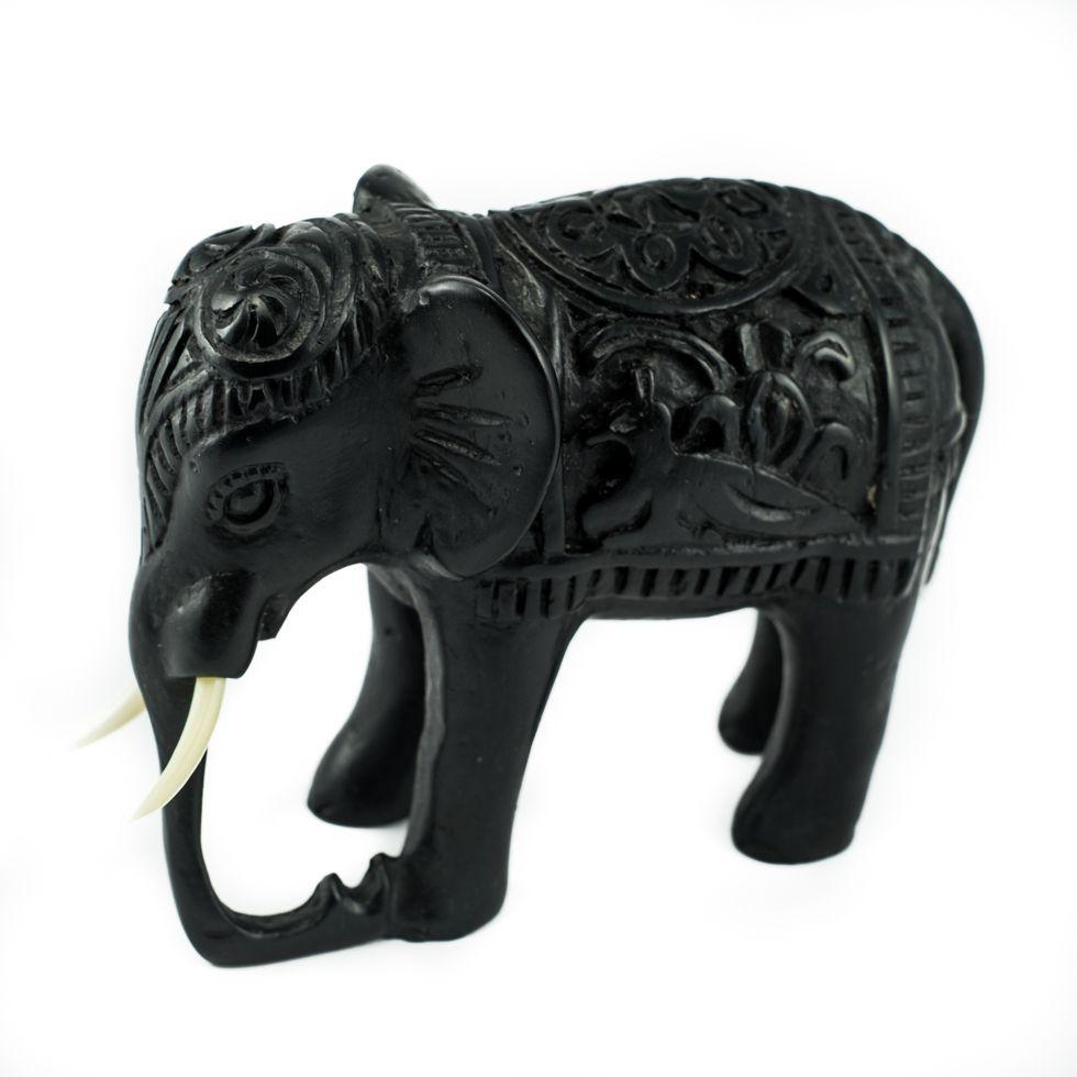 Soška z pryskyřice Slon - zdobený