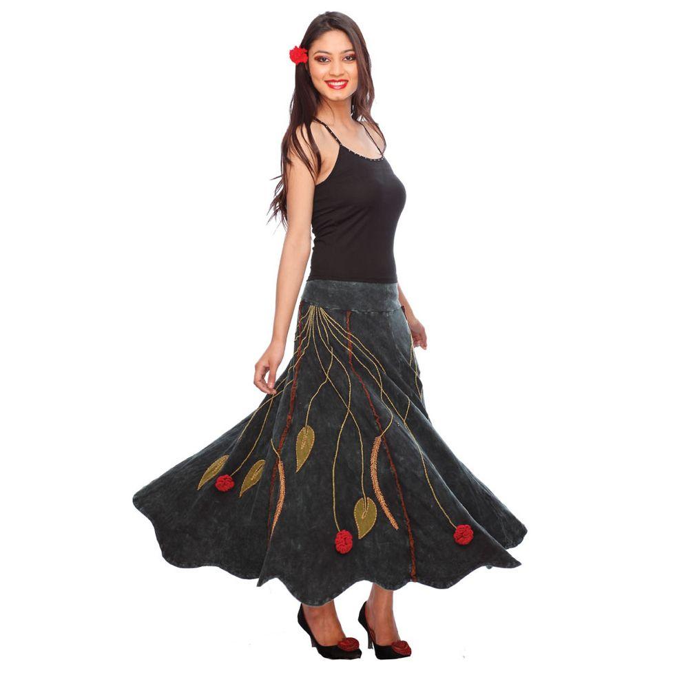Dlouhá sukně s výšivkou Gandhali