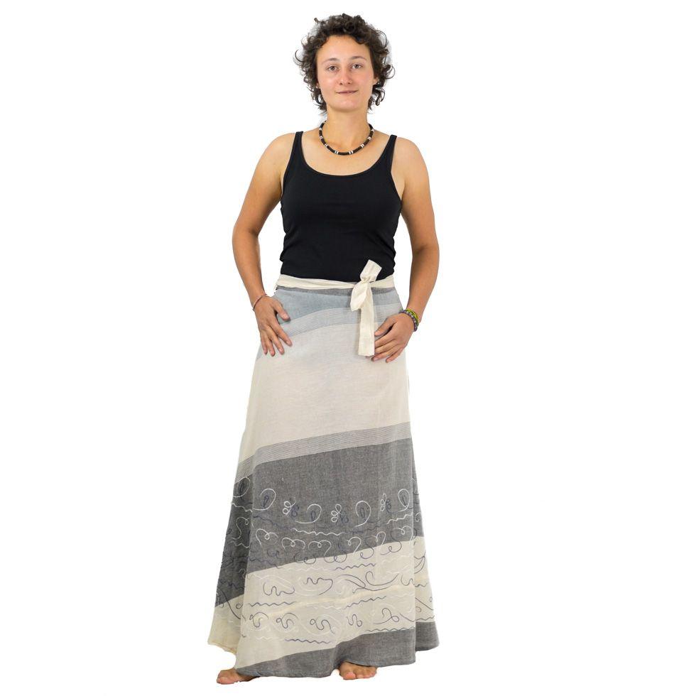 Dlouhá zavinovací sukně Vasanti Asap