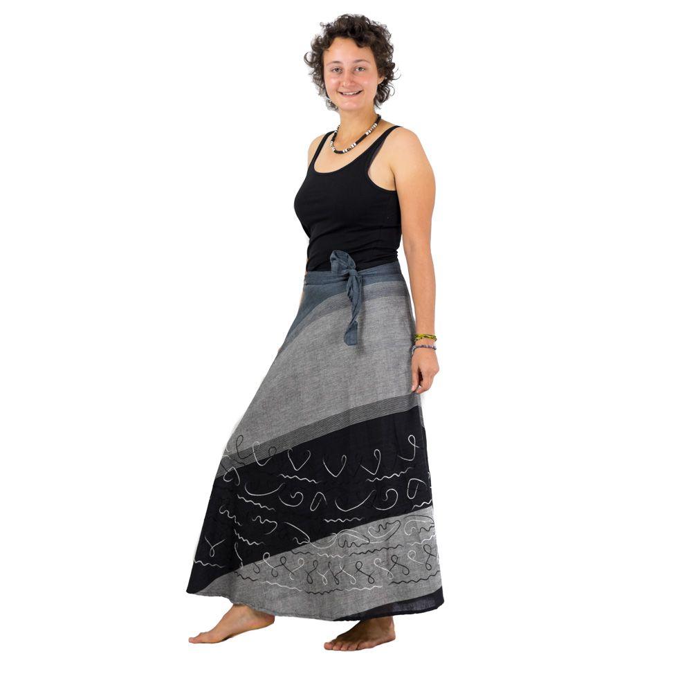 Dlouhá zavinovací sukně Vasanti Badai