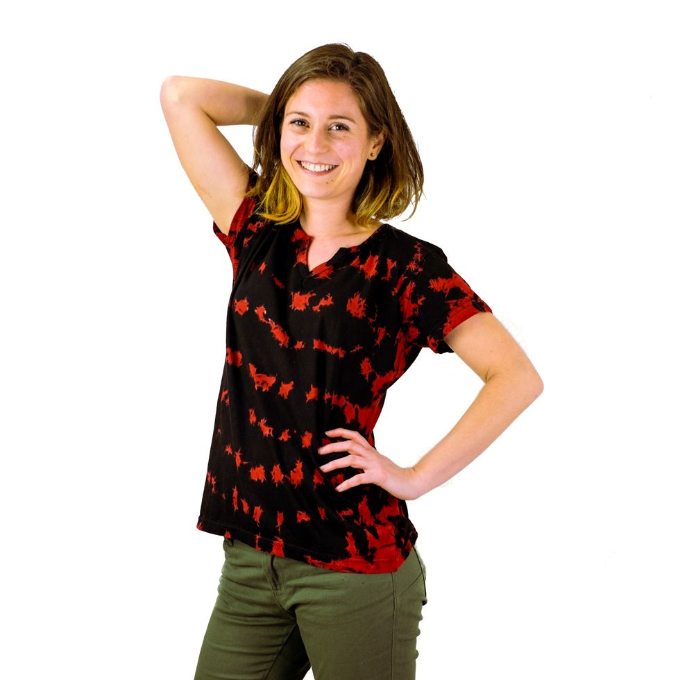 Dámské tričko s krátkým rukávem Benita Red