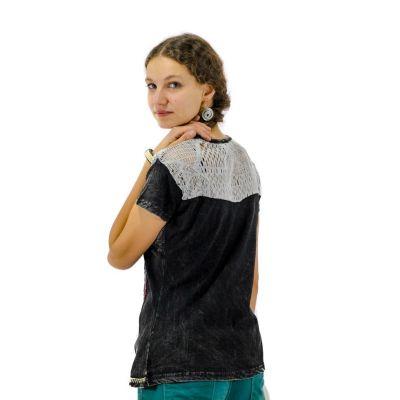 Dámské tričko s krátkým rukávem Daya Hitam