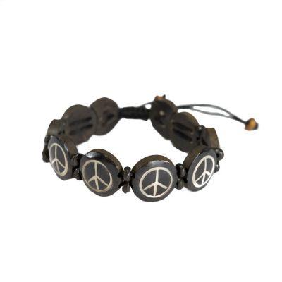 Náramek Peace - černý