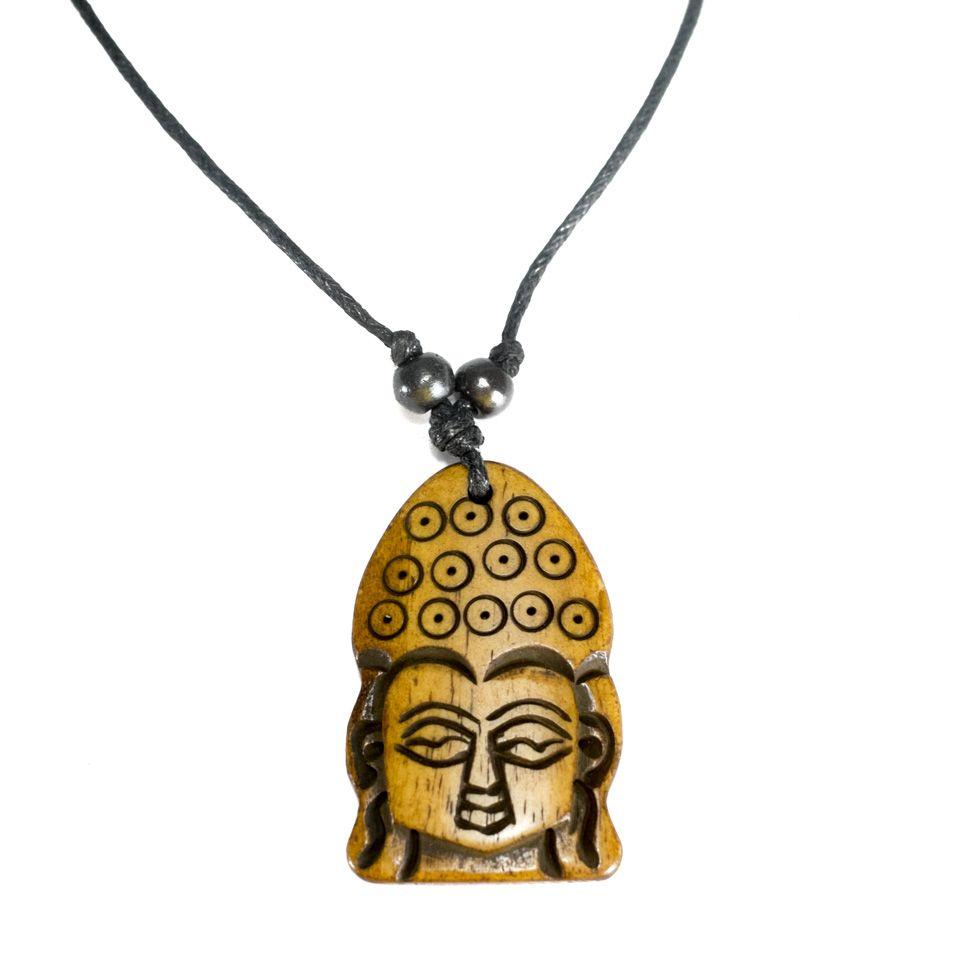 Kostěný přívěsek Buddha - jednoduchý
