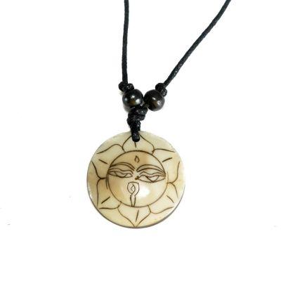 Přívěsek Buddhovy oči v lotosu - jednoduchý