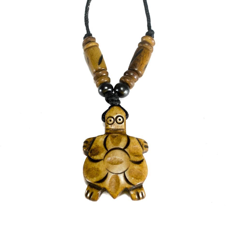 Kostěný přívěsek Hnědá želvička