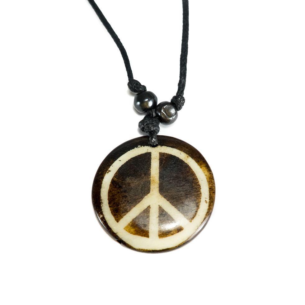 Kostěný přívěsek Peace - jednoduchý