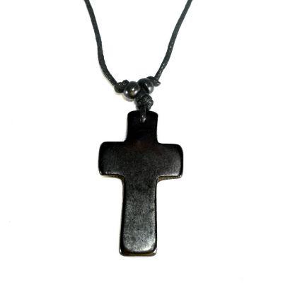 Přívěsek Křížek - černý, jednoduchý