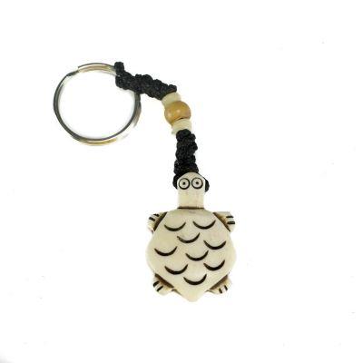 Přívěsek na klíče Bílá želvička