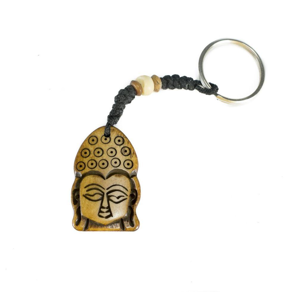 Kostěný přívěsek na klíče Buddha