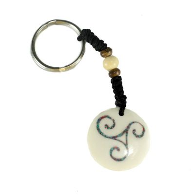 Přívěsek na klíče Keltská spirála